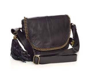 Accessorize Chain Edge Tassel Detail Leather Cross Body Bag