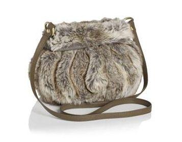 Accessorize Faux Fur Cross Body Bag
