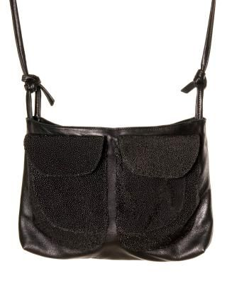Alex Schrijvers Leather Cross Body Bag With Stingray Leather Pockets