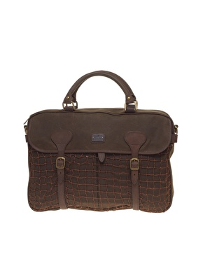 Barbour Country Waxed Cotton Briefcase