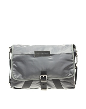 Calvin Klein Nylon Grey Messenger Bag