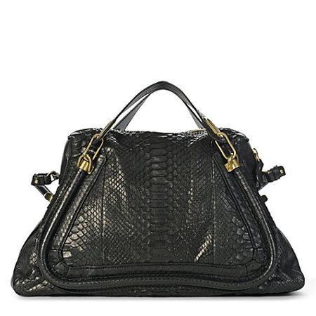 Chloe Large Paraty Python Shoulder Bag