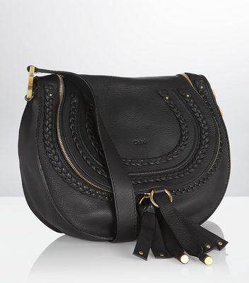 Chloe Marcie Shoulder Bag Black 90