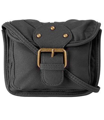 Dorothy Perkins Black Buckle Crossbody Bag