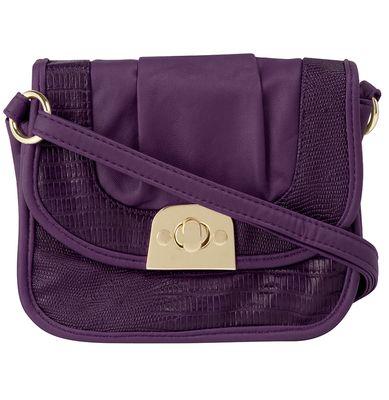 Dorothy Perkins Purple Snake Trim Cossbody Bag