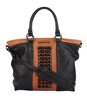 Karen Millen Small Studded Leather Tote