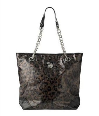Lipsy Patent Leopard Shopper