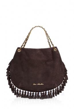 Love Moschino Happy Hippy Tassel Shoulder Bag