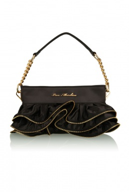 Love Moschino Small Zip Frilled Bag