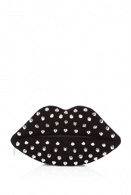 Lulu Guiness Studded Lips Clutch