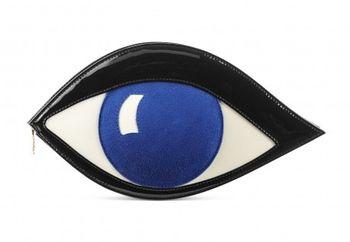Lulu Guinness Sapphire Eye Clutch