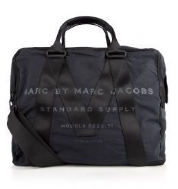 Marc by Marc Jacobs Black Canvas Aviator Overnight Bag