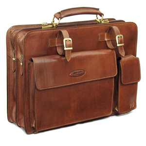 Maxwell Scott Alanzo Leather Briefcase