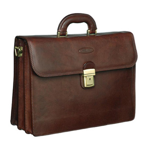 Maxwell Scott Paolo3 Leather Briefcase