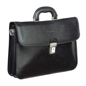 Maxwell Scott Ranco Leather Briefcase