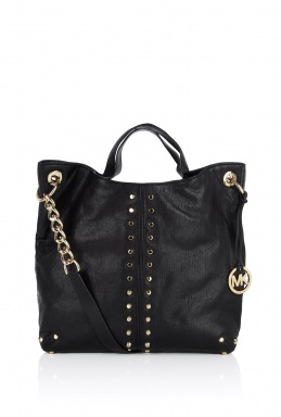 Michael Kors Black Uptown Astor Large Shoulder Tote Bag