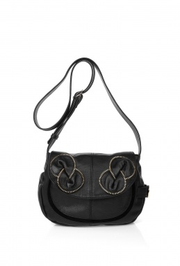 bags in neutral tones and metallic leathers including these Cross Body