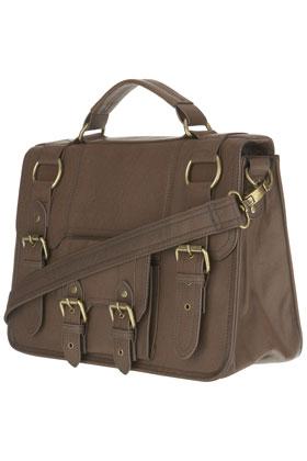 Warehouse 4 Buckles Soft Satchel Bag