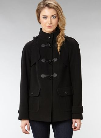 Dorothy Perkins Black Hooded Duffle Coat