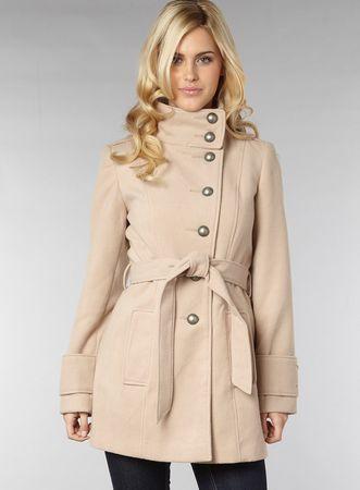 Dorothy Perkins Camel Belted Hip Coat