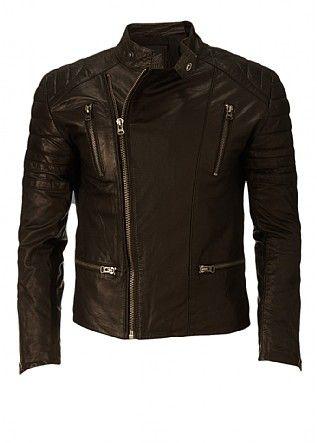 Firetrap Duk Leather Biker Jacket