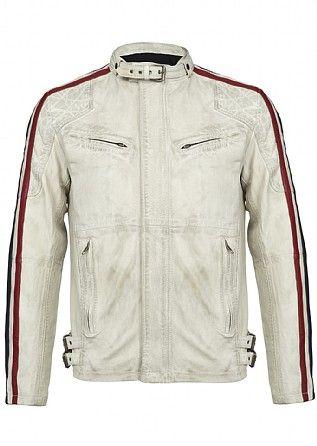 Firetrap Trophy Leather Biker Jacket