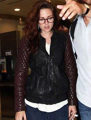 Kristen Stewart was photographed arriving at the Toronto Film Festival in this new season Rixey Leather Bomber Jacket by AllSaints