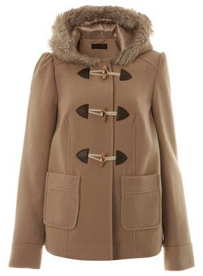 Womens Duffle Coat With Fur Hood Duffle Coat With Fur Hood