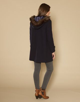 Monsoon Darcy Duffle Coat Back