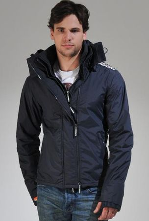 Superdry Retro Vintage Hooded Polar Windcheater Jacket