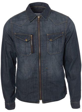 Topman Chambray Denim Shacket