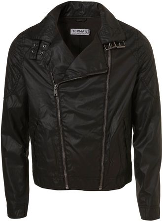 Topman Double Zip Cotton Biker Jacket