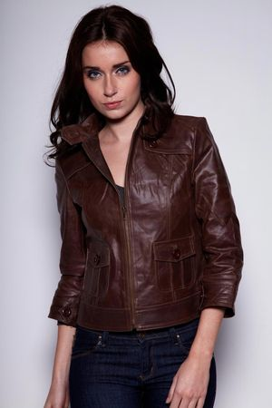boohoo Gemma Leather Jacket