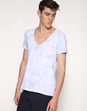 ASOS Tie Dye V-Neck T-Shirt