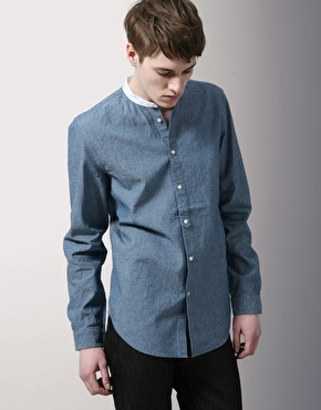 Acne Chambray Grandad Shirt