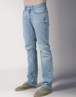 Acne MicKnee Ripped Straight Jeans