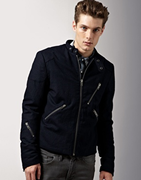 Acne Oliver Wool Biker Jacket