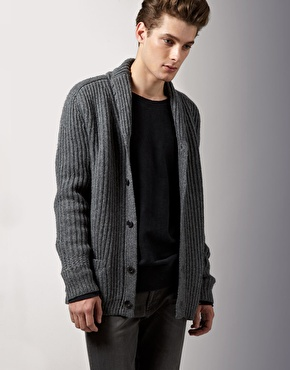 Acne Pop Heavy Shawl Collar Cardigan