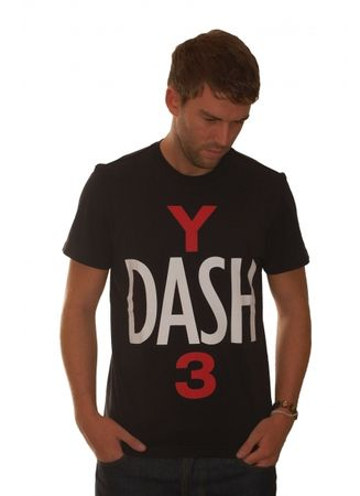 Adidas Y3 Black Dash T-Shirt