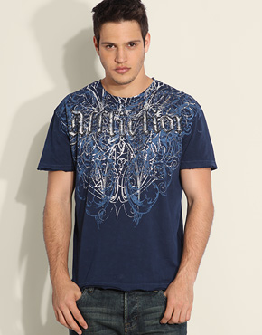 Affliction Eagle Foil Shield T-Shirt