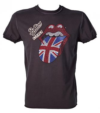 Amplified Diamante UK Flag Rolling Stones T-Shirt