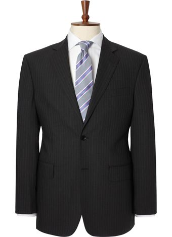 Austin Reed Charcoal Stripe Travel Suit