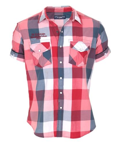 BC London Check Red Shirt