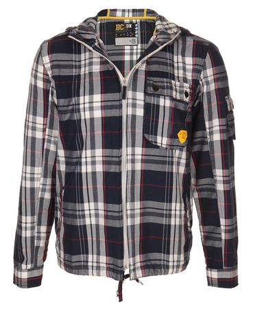 BC London Hooded Check Shirt
