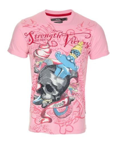 Blend Diamante Skull T-Shirt