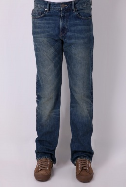 Burberry Blue Vintage Wash Straight Leg Jeans