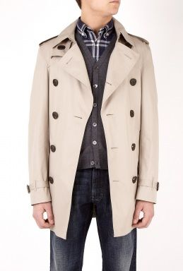 Burberry Taupe Classic Double Breasted Trench Coat