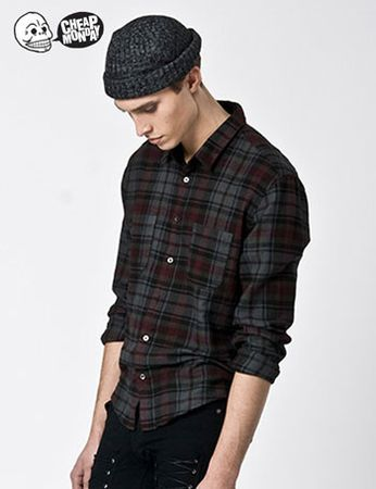 Cheap Monday Ivan Plaid Check Shirt