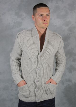 Diesel Caoba Thick Knit Cardigan