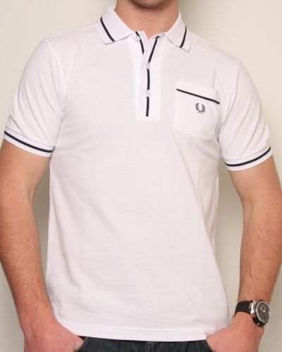 Fred Perry Pocket Polo Shirt White